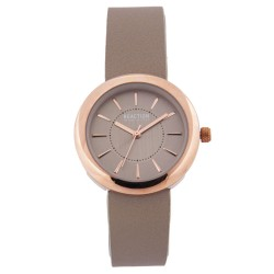 Kenneth Cole Reaction  Womens Greige Leather Strap Analog Watch RK50103002 image here