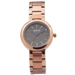 Kenneth Cole Reaction  Womens Rose God Metal Strap Analog Watch RK50103007 image here