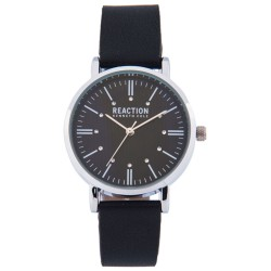 Kenneth Cole Reaction  Womens Black Leather Strap Analog Watch RK50104001 image here