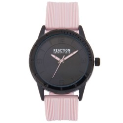Kenneth Cole Reaction  Womens Baby Pink Rubber Strap Analog Watch RK50106003 image here