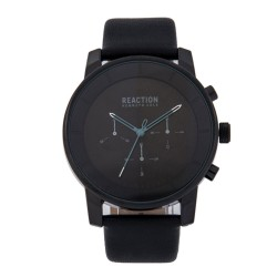 Kenneth Cole Reaction  Mens Black Leather Strap Analog Watch RK50082006 image here
