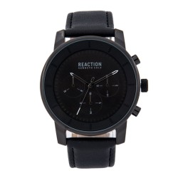 Kenneth Cole Reaction  Mens Black Leather Strap Analog Watch RK50082008 image here