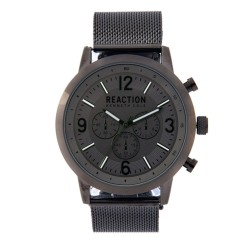 Kenneth Cole Reaction  Mens Gunmetal Mesh Strap Analog Watch RK50088007 image here