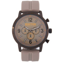 Kenneth Cole Reaction  Mens Gray Rubber Strap Analog Watch RK50088005 image here