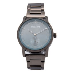 Kenneth Cole Reaction  Mens Gunmetal Metal Strap Analog Watch RK50084010 image here