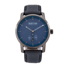 Kenneth Cole Reaction  Mens Gray Leather Strap Analog Watch RK50084003 image here