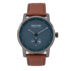 Kenneth Cole Reaction  Mens Tan Leather Strap Analog Watch RK50084007 image here