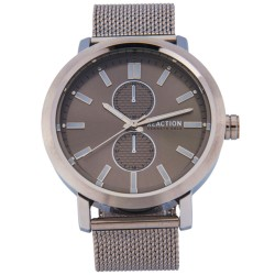 Kenneth Cole Reaction  Mens Silver Mesh Strap Analog Watch RK50098005 image here