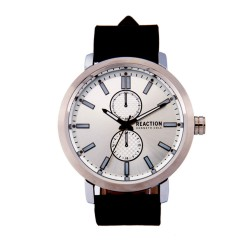 Kenneth Cole Reaction  Mens Black Leather Strap Analog Watch RK5009804 image here