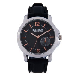Kenneth Cole Reaction  Mens Black Rubber Strap Analog Watch RK50096001 image here