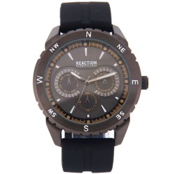Kenneth Cole Reaction  Mens Black Rubber Strap Analog Watch RK50089002 image here