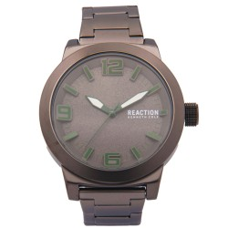 Kenneth Cole Reaction  Mens Gray Metal Strap Analog Watch RK50092006 image here