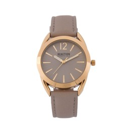 Kenneth Cole Reaction  Womens Beige Leather Strap Analog Watch RK50108018 image here