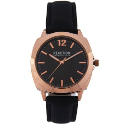 Kenneth Cole Reaction  Womens Black Leather Strap Analog Watch RK50108003 image here