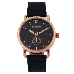 Kenneth Cole Reaction  Womens Black Leather Strap Analog Watch RK50101003 image here