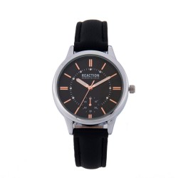 Kenneth Cole Reaction  Womens Black Leather Strap Analog Watch RK50108010 image here