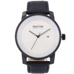Kenneth Cole Reaction  Mens Black Leather Strap Analog Watch RK50081003 image here