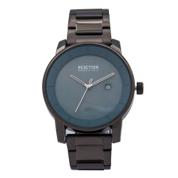 Kenneth Cole Reaction  Mens Gray Chrome Metal Strap Analog Watch RK50081008 image here