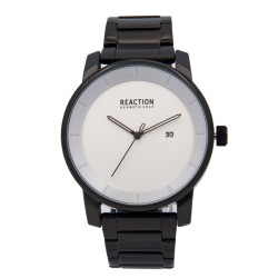 Kenneth Cole Reaction  Mens Black Chrome Metal Strap Analog Watch RK50081009 image here