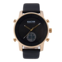 Kenneth Cole Reaction  Mens Black Leather Strap Ana-Digi Watch RK50083001 image here
