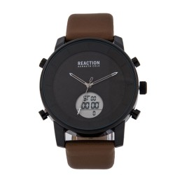 Kenneth Cole Reaction  Mens Light Brown Leather Strap Ana-Digi Watch RK50083002 image here