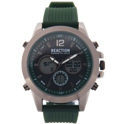 Kenneth Cole Reaction  Mens Olive Green Rubber Strap Ana-Digi Watch RK50088003 image here