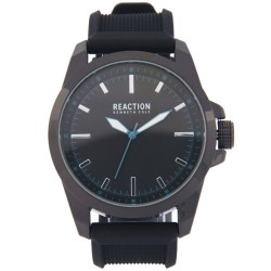 Kenneth Cole Reaction  Mens Black Rubber Strap Analog Watch RK50090001 image here
