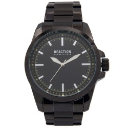 Kenneth Cole Reaction  Womens Black Chrome/ Gunmetal Metal Strap Analog Watch RK50090006 image here