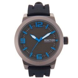 Kenneth Cole Reaction  Mens Black Rubber Strap Analog Watch RK50092002 image here
