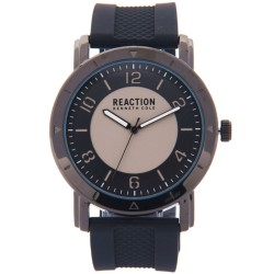 Kenneth Cole Reaction  Mens Black Rubber Strap Analog Watch RK50093003 image here