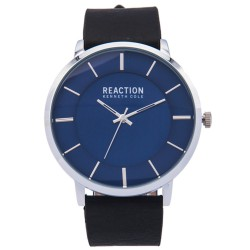 Kenneth Cole Reaction  Mens Black Leather Strap Analog Watch RK50099004 image here