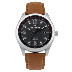 Ben Sherman The Sugarman Men Brown Genuine Leather Strap Analog Watch WBS106BT image here