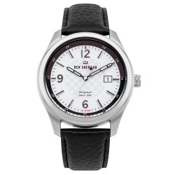 Ben Sherman The Sugarman Men Black Genuine Leather Strap Analog Watch WBS106WB image here