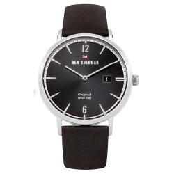 Ben Sherman Dylan Men Brown Genuine Leather Strap Analog Watch WBS101BR image here
