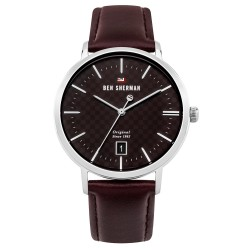 Ben Sherman Dylan Men Brown Genuine Leather Strap Analog Watch WBS103BT image here