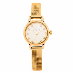 Cherie Paris Fran Women Gold Stainless Steel Strap Watch CHR-1745-IPG image here