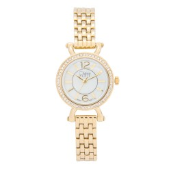 Cherie Paris Trina Women Gold Stainless Steel Strap Watch CHR-1743-IPG image here