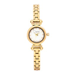 Cherie Paris Trixie Women Gold Stainless Steel Strap Watch CHR-1744-IPG image here
