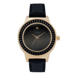Cherie Paris Melinda Women Black Rubber Strap Watch CHR-1749L-IPG image here