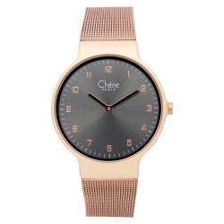 Cherie Paris Veronica Women Rose Gold Mesh Strap Watch CHR-1757L-IPG image here