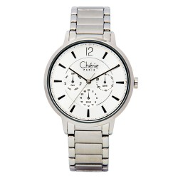 Cherie Paris Mary Jane Women Silver Stainless Steel Strap Watch CHR-1753L-IPS image here