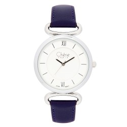 Cherie Paris Aurora Women Purple Leather Strap Watch CHR-1742-IPS image here
