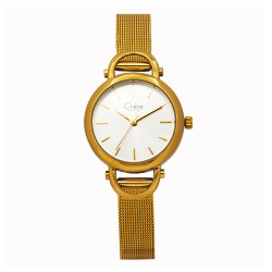 Cherie Paris Deane Women Gold Stainless Steel Strap Watch CHR-1765L-IPG image here