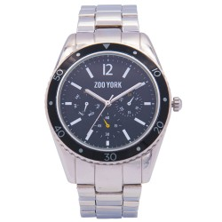 Zoo York  Men Silver Stainless Steel Strap Watch ZY-1746-Blk image here