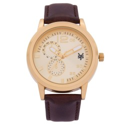 Zoo York  Men Brown Leather Strap Watch ZY-1743-Gld image here