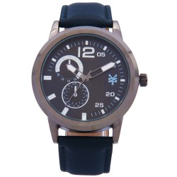 Zoo York  Men Navy Blue Leather Strap Watch ZY-1743-Blu image here
