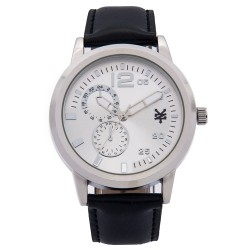 Zoo York  Men Black Leather Strap Watch ZY-1743-Sil image here