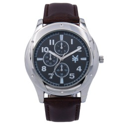 Zoo York  Men Brown Leather Strap Watch ZY-1745-Brn image here