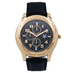 Zoo York  Men Black Leather Strap Watch ZY-1745-Gld image here