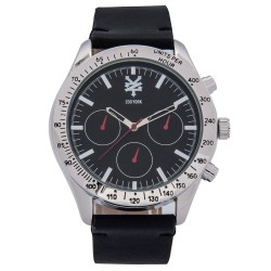 Zoo York  Men Black Leather Strap Watch ZY-1748-Sil image here